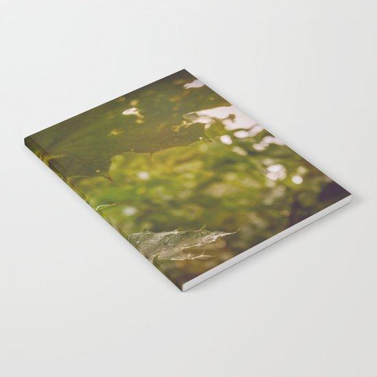 Rainy autumn leaves Notebook