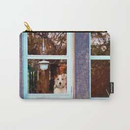 Dog at the window Carry-All Pouch