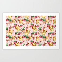 All cute stuff cheerful pattern Art Print