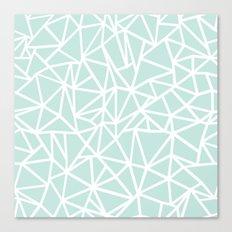 Ab Outline Thick Mint Canvas Print