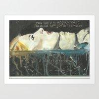hayley williams Art Prints featuring Hayley Williams -Monster by Meliese Reid