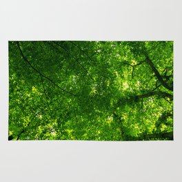 Canopy of leaves Rug