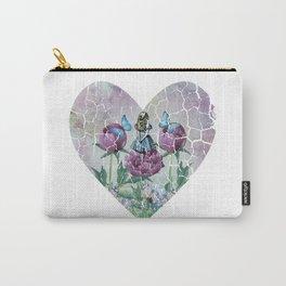 Alice In Wonderland - Wonderland Garden - Heart Shape Carry-All Pouch