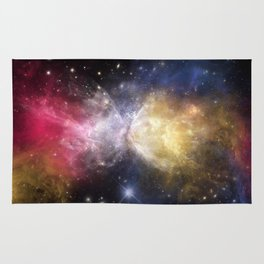 Fussion Watercolor Universe Rug