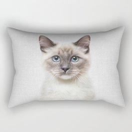 Cat - Colorful Rectangular Pillow