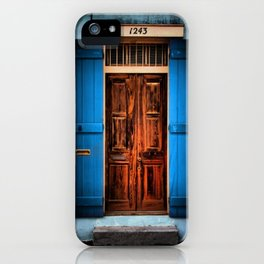 French Quarter Antique New Orleans Doorway iPhone Case