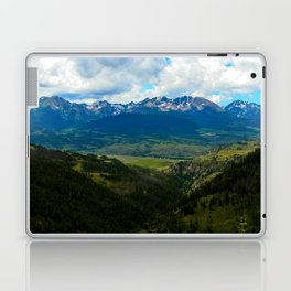 Gore Range with ranches below Laptop & iPad Skin
