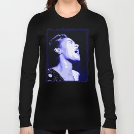 Billie in Blues (Billie Holiday) Long Sleeve T-shirt