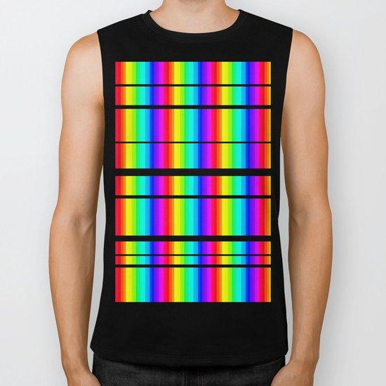 Rainbow Line #society6 Biker Tank