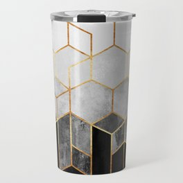 Charcoal Hexagons Travel Mug