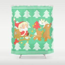 Santa 2014 Shower Curtain