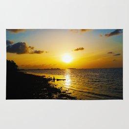 Seashore Serenity at Sunset Rug