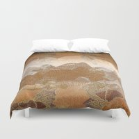 asian Duvet Covers featuring Asian background by dominiquelandau