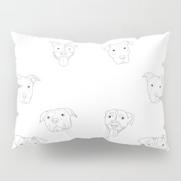 White pit bull love Pillow Sham