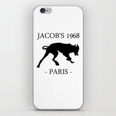 Black Dog Jacob's 1968 fashion Paris iPhone & iPod Skin