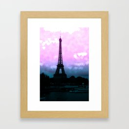 Paris Eiffel Tower : Lavender Teal Framed Art Print