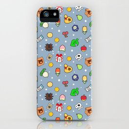 ac cute pattern blue iPhone Case
