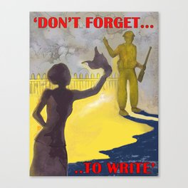 Don't Forget to Write Canvas Print