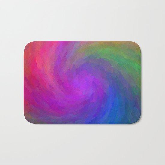 Twister Of Color Bath Mat