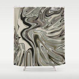 Lady born wild and free Shower Curtain