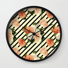 Chrysanthemum Rain Wall Clock