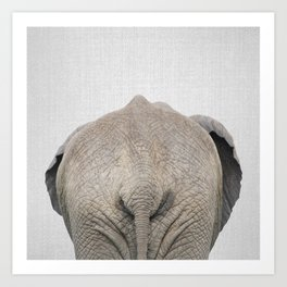 Elephant Tail - Colorful Art Print