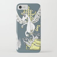 backpack iPhone & iPod Cases featuring Magical Mystery Backpack by Amy Gale