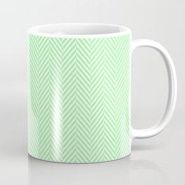 Classic Mint Green & White Herringbone Pattern Coffee Mug