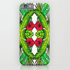 Palm Leaves and Hibiscus iPhone 6 Slim Case