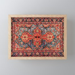 Kashan Poshti Central Persian Rug Print Framed Mini Art Print