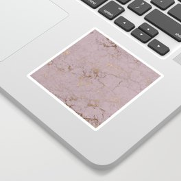 rose gold marble print Sticker