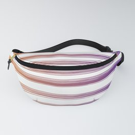 Drawn Lines Orange to Purple Ombre Fanny Pack