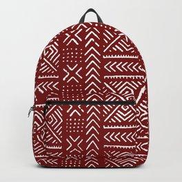 Line Mud Cloth // Maroon Backpack