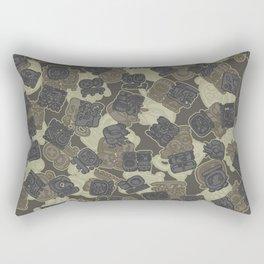 Mayan Temple Camo AZTEC DESERT Rectangular Pillow
