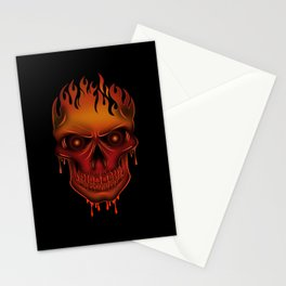 Flame Skull Stationery Cards