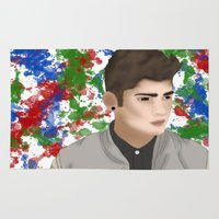 zayn Area & Throw Rugs featuring Zayn 1D by Maranda Rae