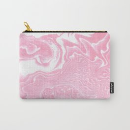 Pak - pink pastel spilled ink japanese printmaking ocean swirl topography ocean water trendy  Carry-All Pouch