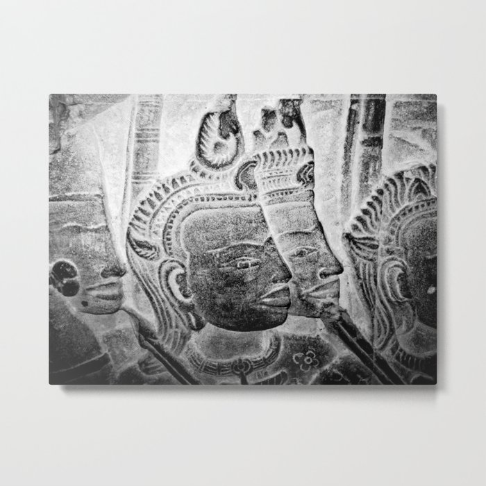 Faces II Metal Print
