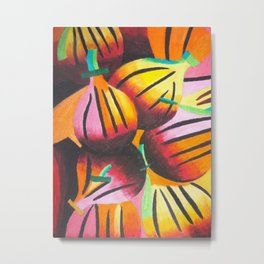 Retro Passionfruit Metal Print