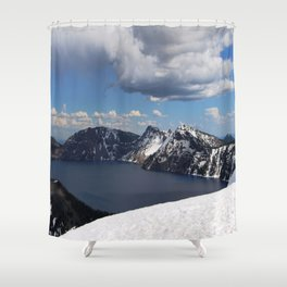 Winter-Crater Lake, Oregon Shower Curtain