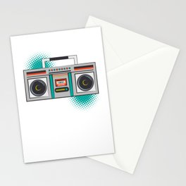 Never Forget Retro Vintage Cassette Player Boom Box Graphic Stationery Cards