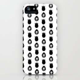 Alien Eggs Pattern White and Black iPhone Case