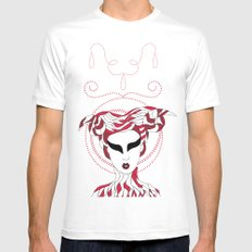 Aries / 12 Signs of the Zodiac White Mens Fitted Tee SMALL