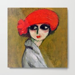 The Corn Poppy, Portrait of a Young Woman by Kees van Dongen Metal Print