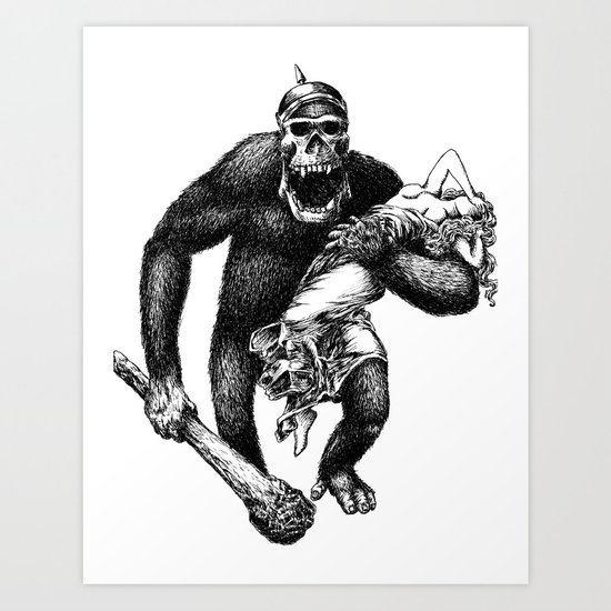 Mad Brute Art Print