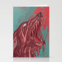 the hound Stationery Cards featuring HOUND CRY by DeerKat