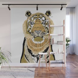 Tiger Collage Wall Mural