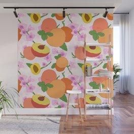 Peach Blossom Floral Wall Mural