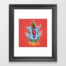 Cute Monster Framed Art Print