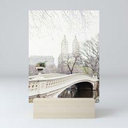 Bow Bridge in Central Park - Travel Photography, New York Mini Art Print